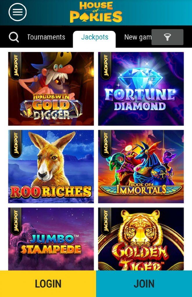 House of Pokies casino jackpots