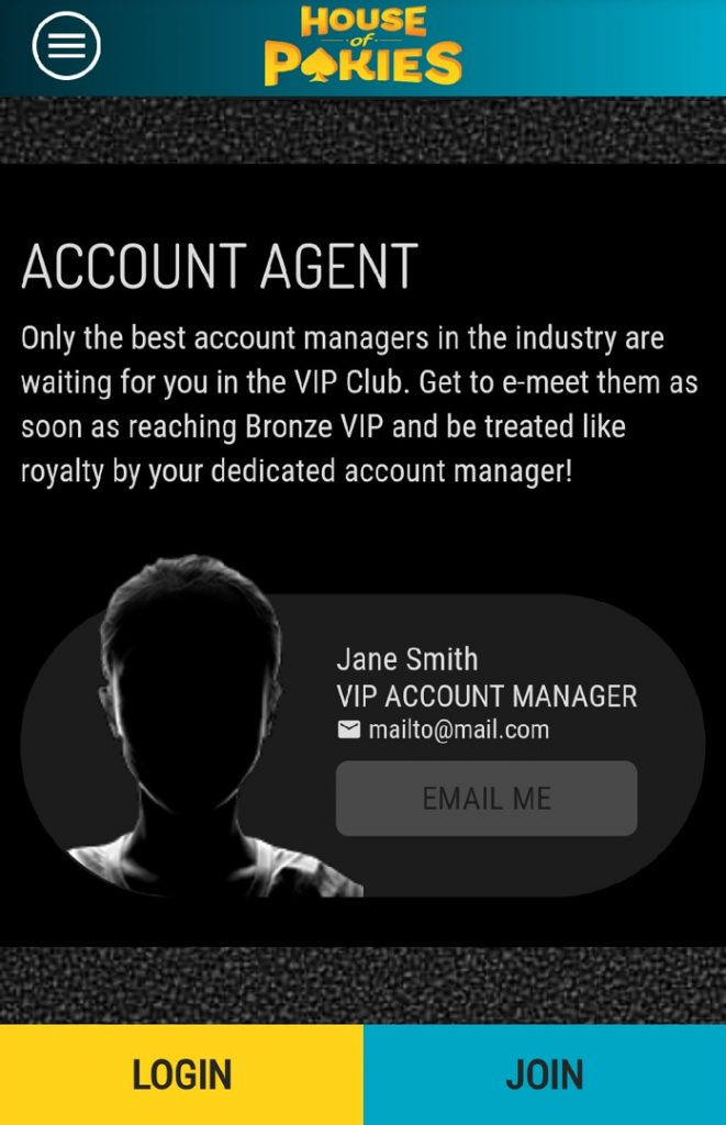 House of Pokies account manager