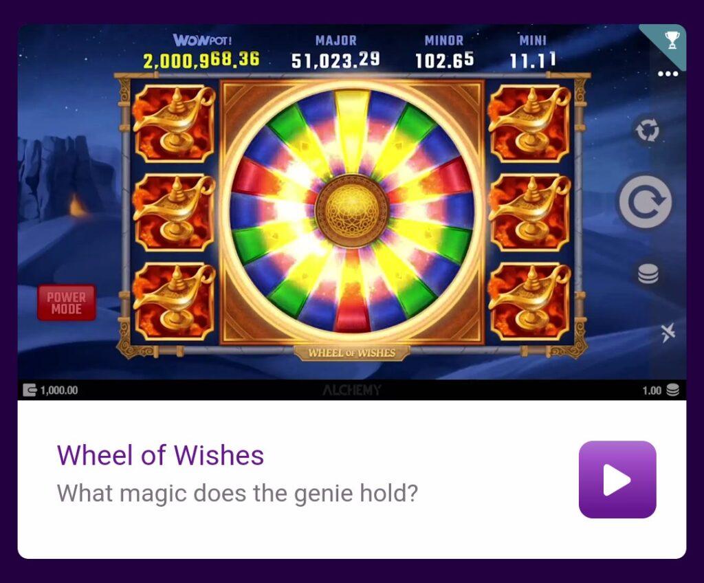 Jackpotcity Wheel of Wishes