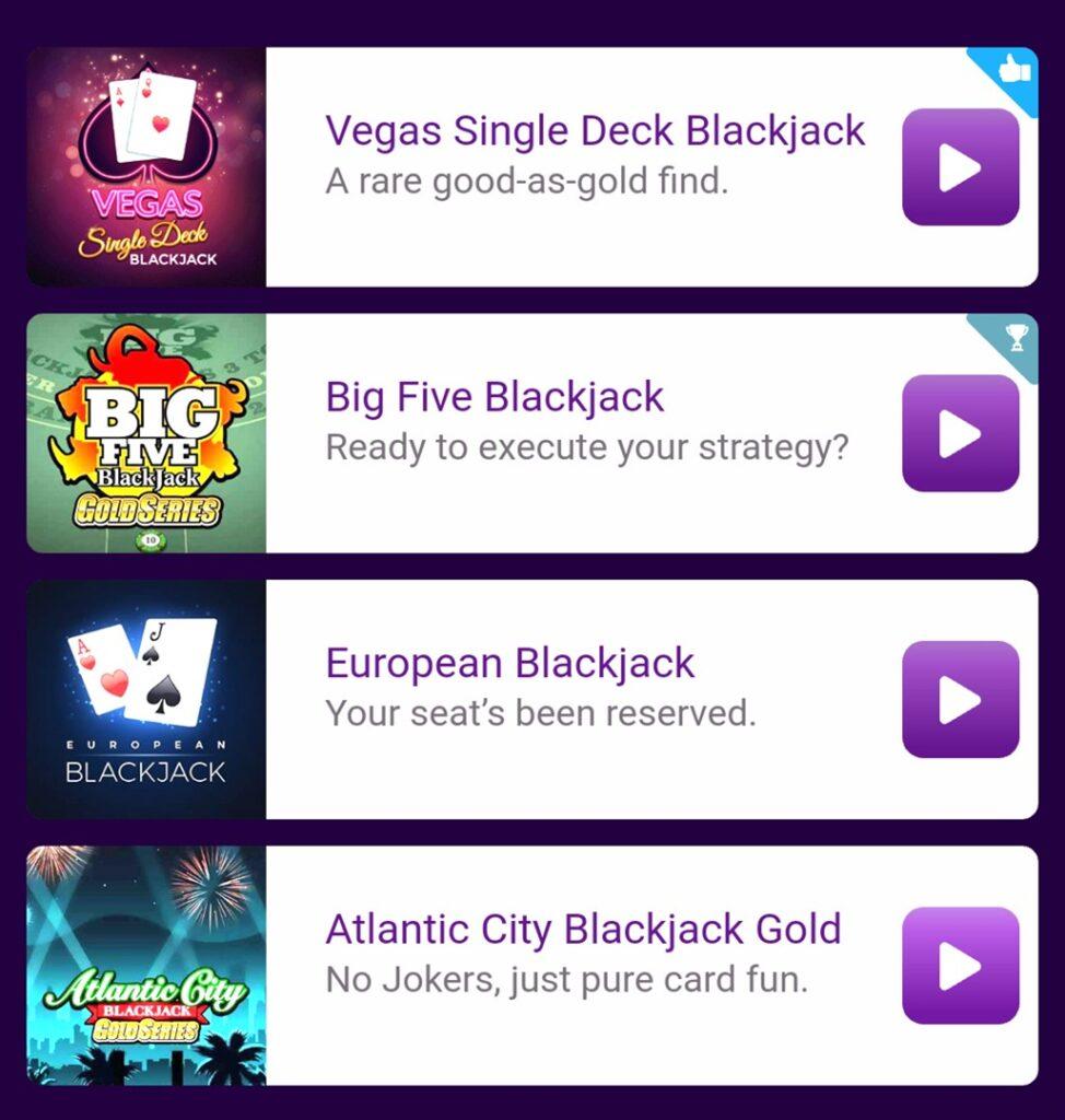 JackpotCity Mobile Blackjack