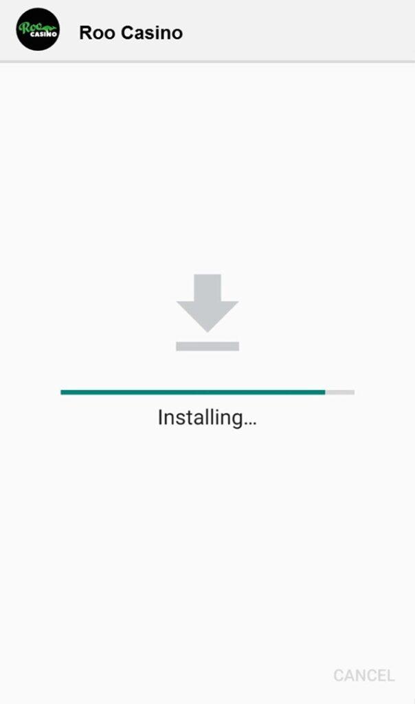 Roo Casino App installing