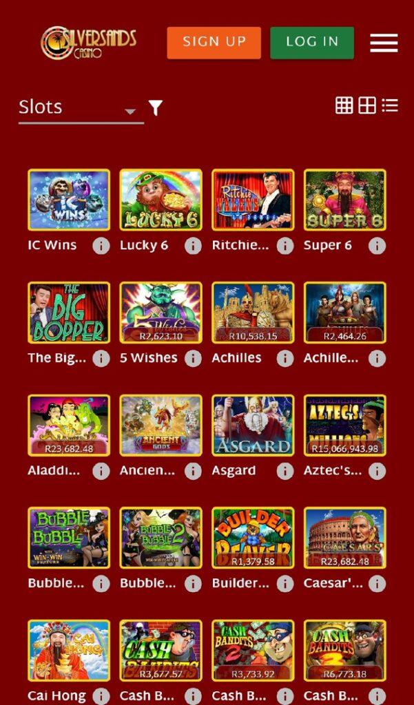 Silversands casino mobile slots