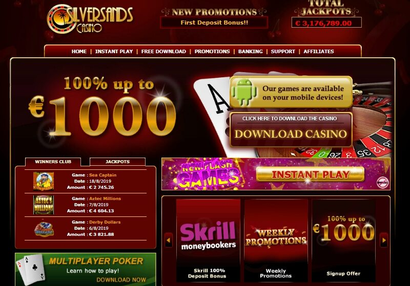 Silversands Mobile Casino