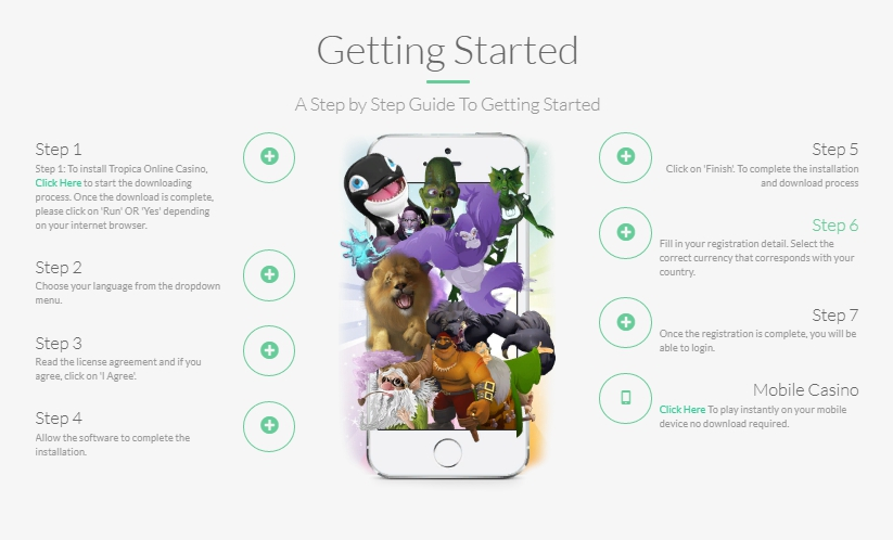 Tropica casino mobile - download app