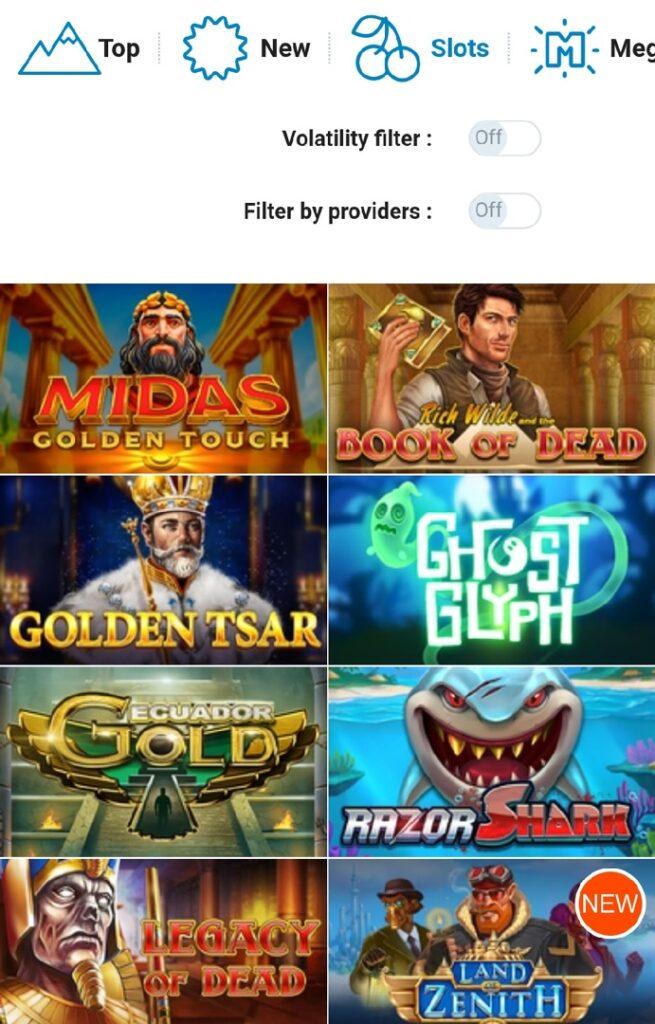 Games and Slots
