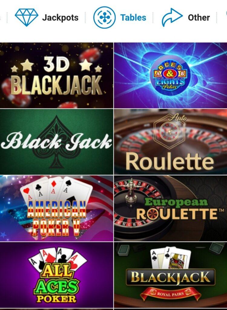 Tropica casino - board games