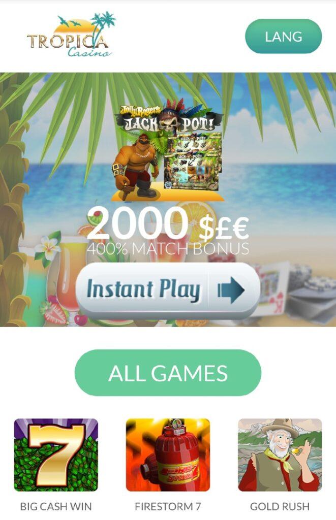 Tropica mobile casino