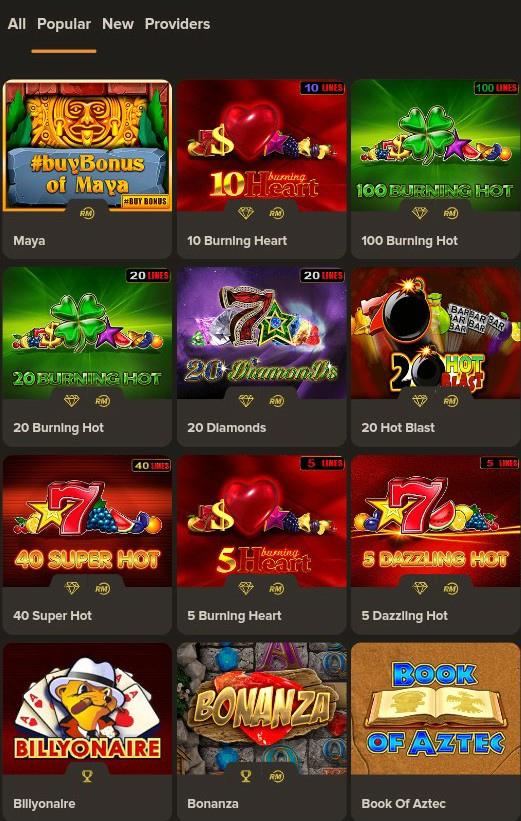 Gibson Casino Mobile slots
