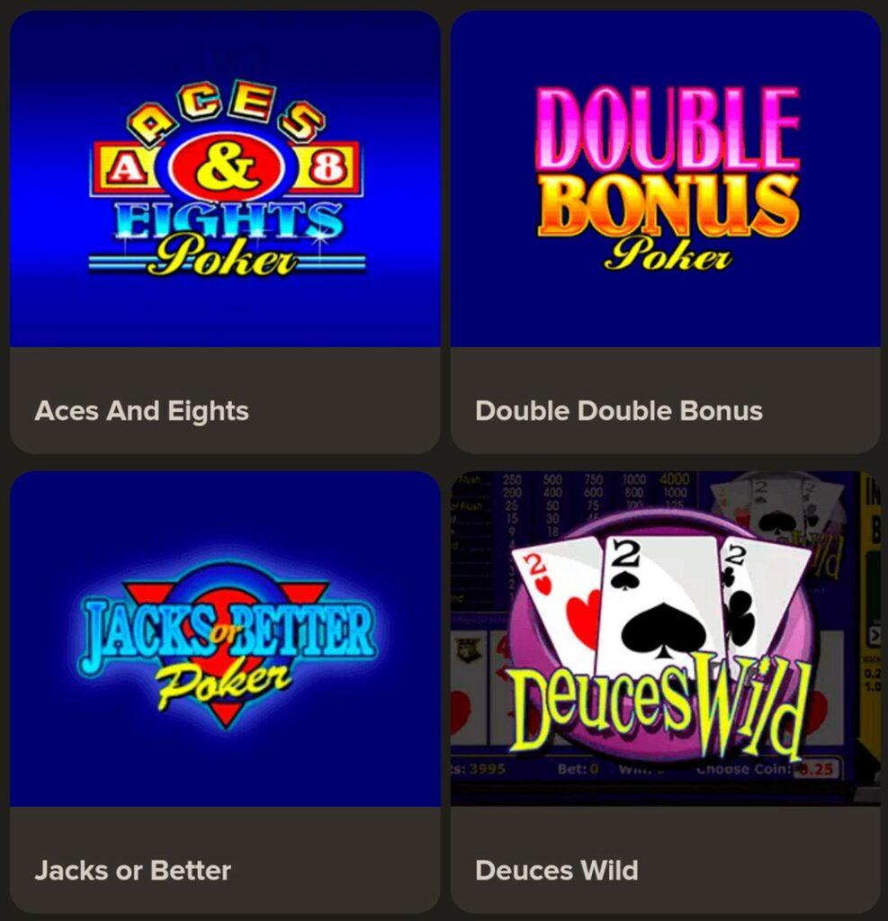 Gibson Casino Mobile video poker