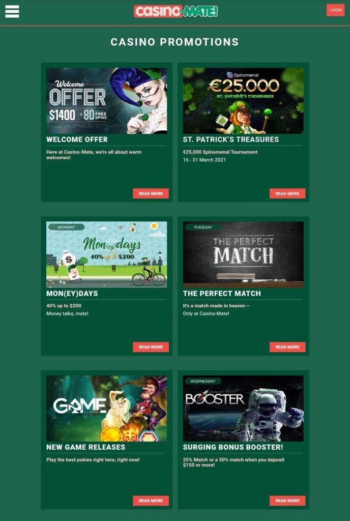 Casino Mate promotions