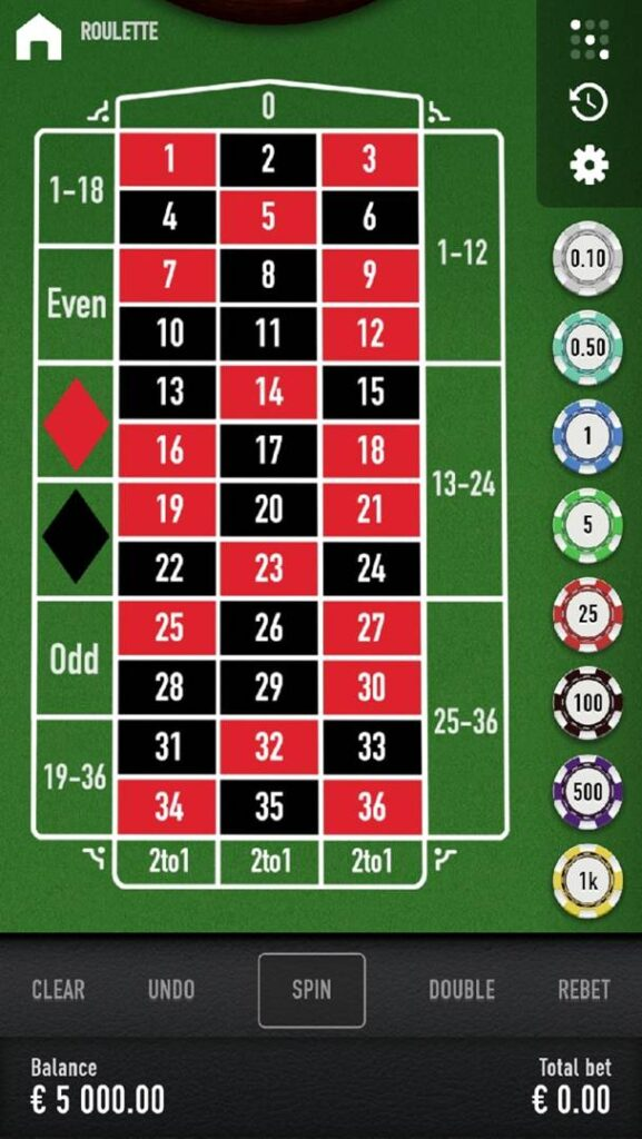 Casino Mate mobile roulette