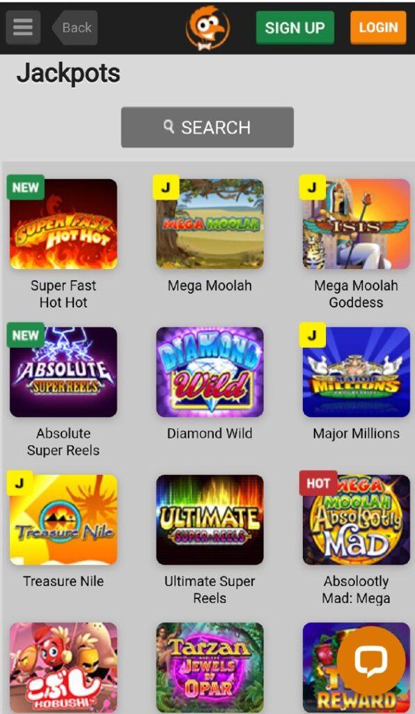 Emu Casino Mobile Jackpots
