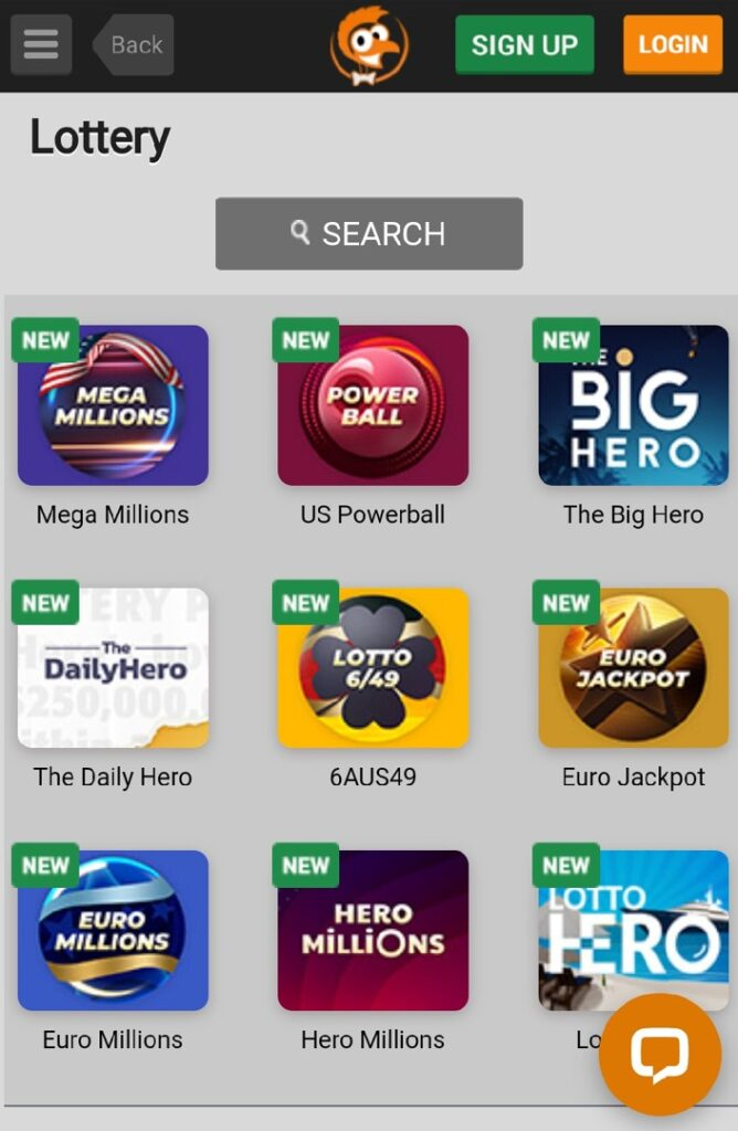 Emu Casino Mobile - Lottery