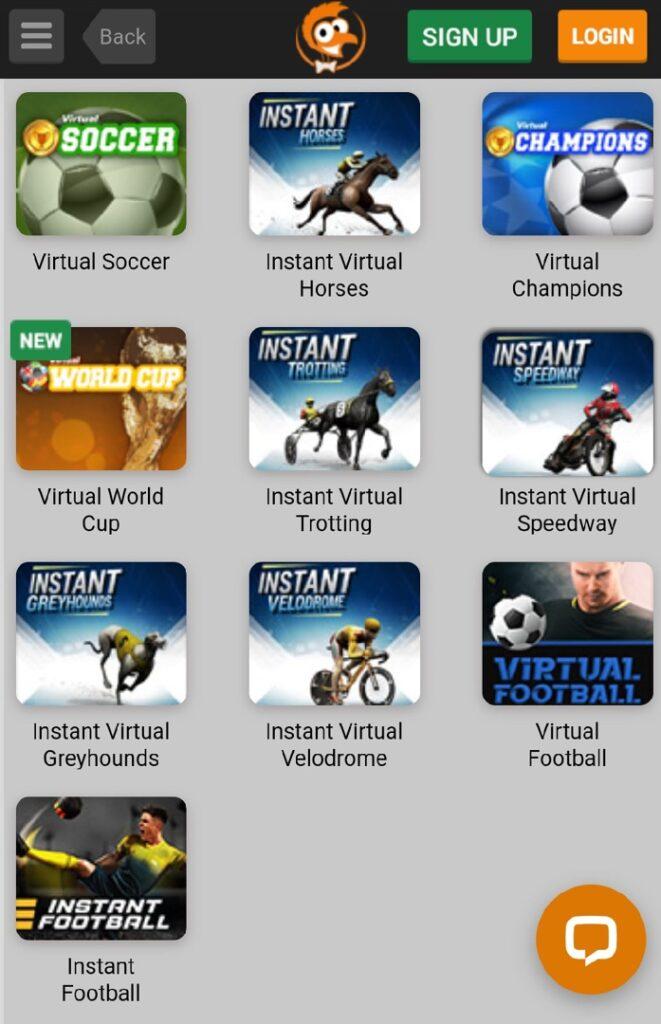 Emu virtual sports