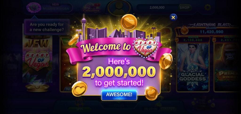 Heart of Vegas play online