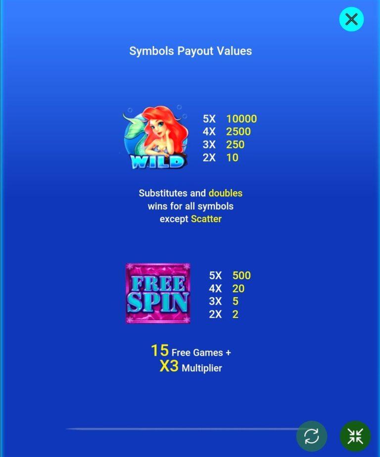 Mermaid Payout Values