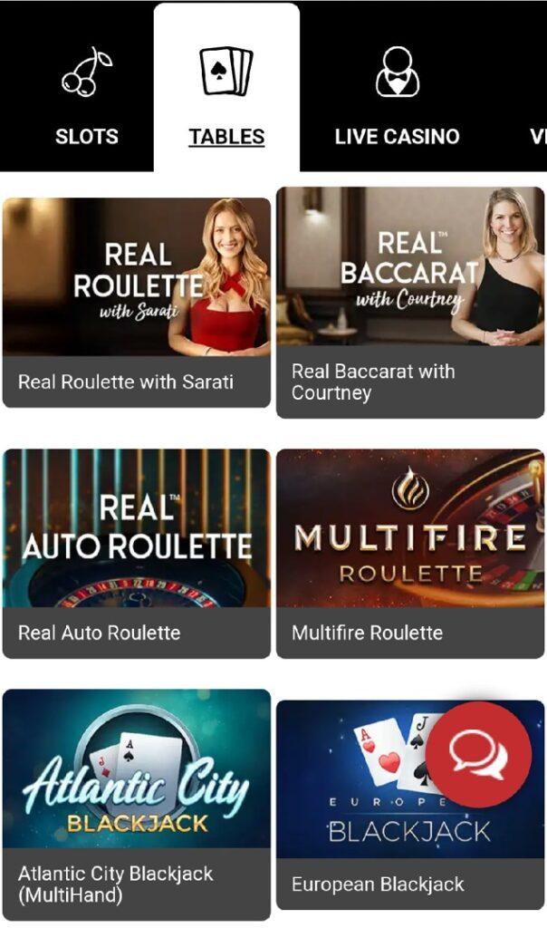 Royal Vegas Mobile Casino - Board games