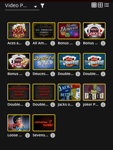 Ruby Fortune video poker