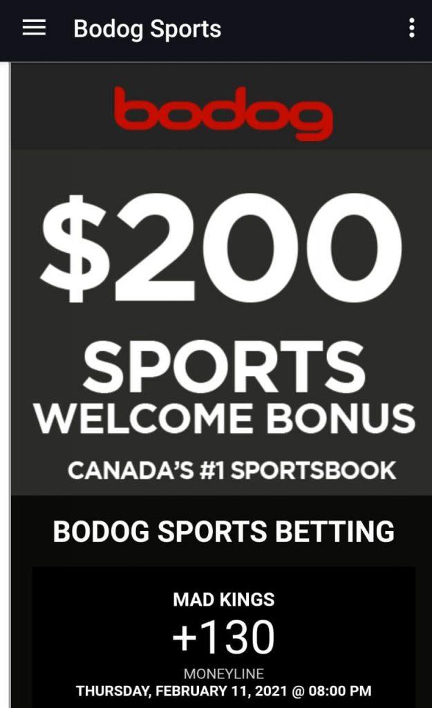 Bodog mobile bonus code