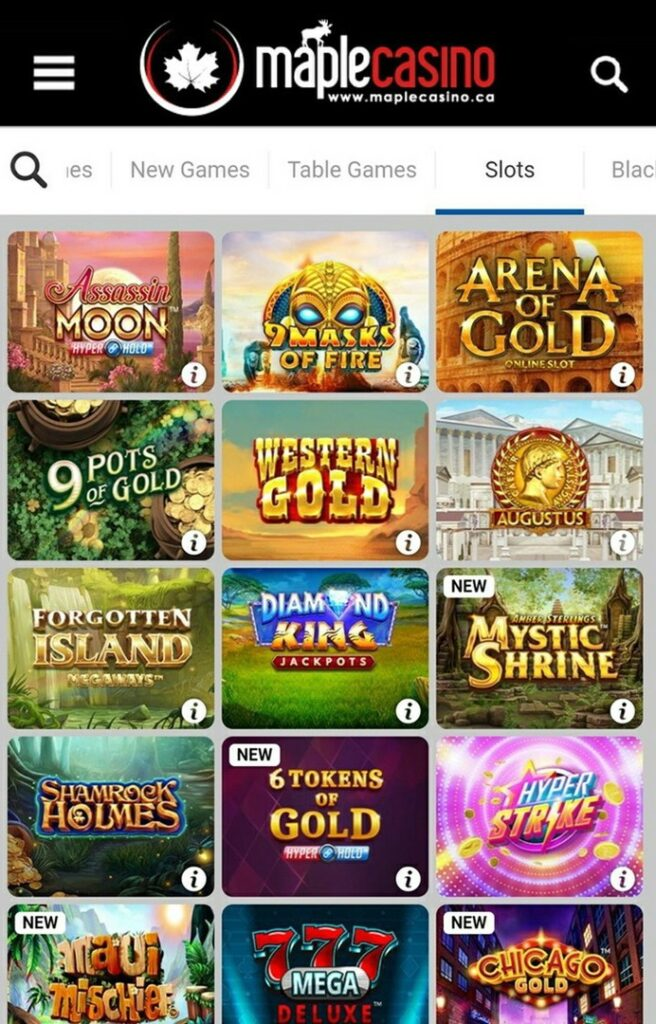 Maple Casino Mobile - Slots and Games