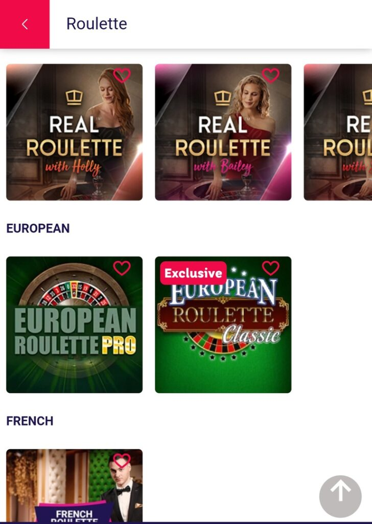 Roulette in Party Casino