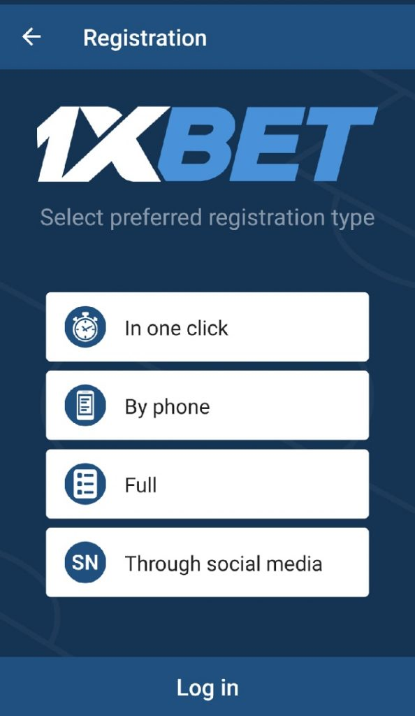 Sign up 1 xbet