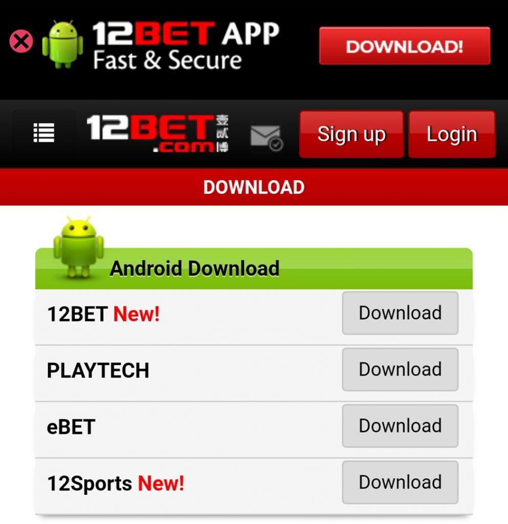 12bet app download