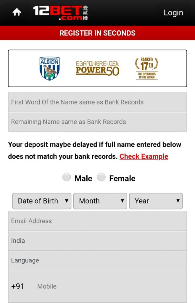 registration step one