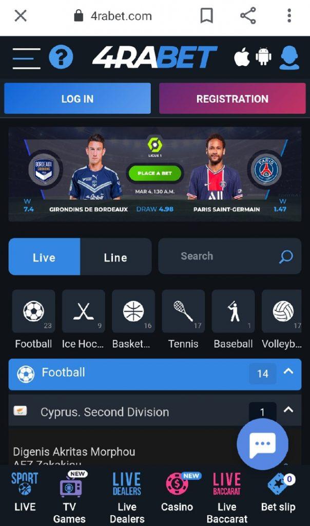 4rabet sportsbook app