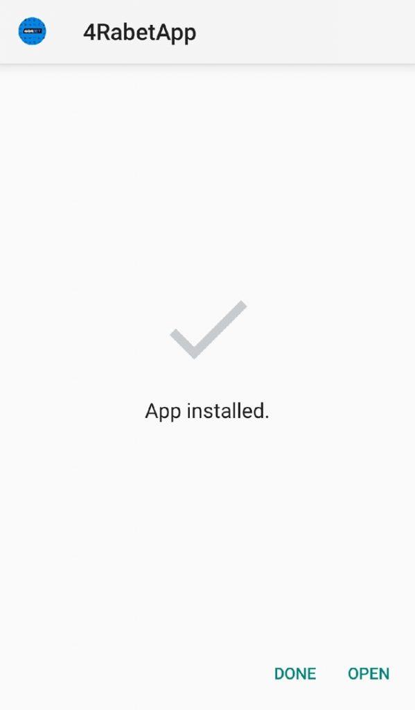 4rabet application installed