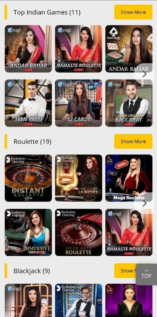 10CRIC Casino India