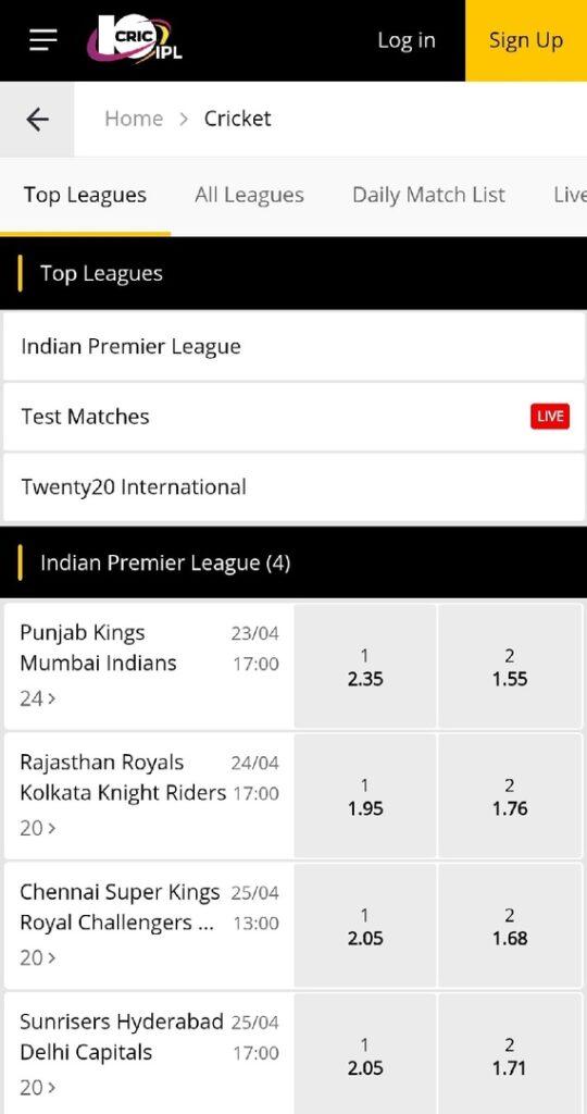 10CRIC Cricket India