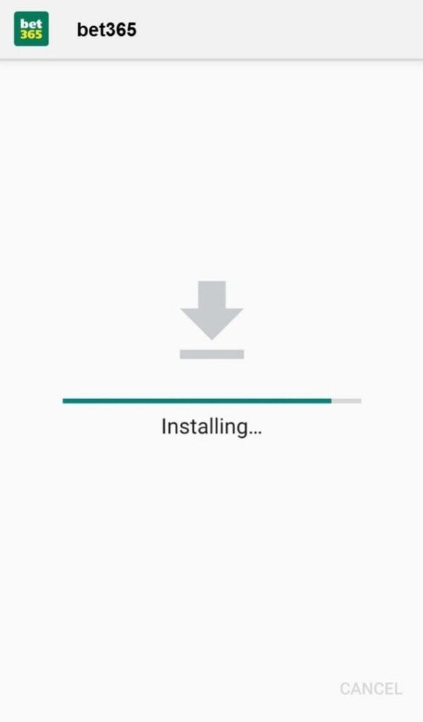 bet365 app installing