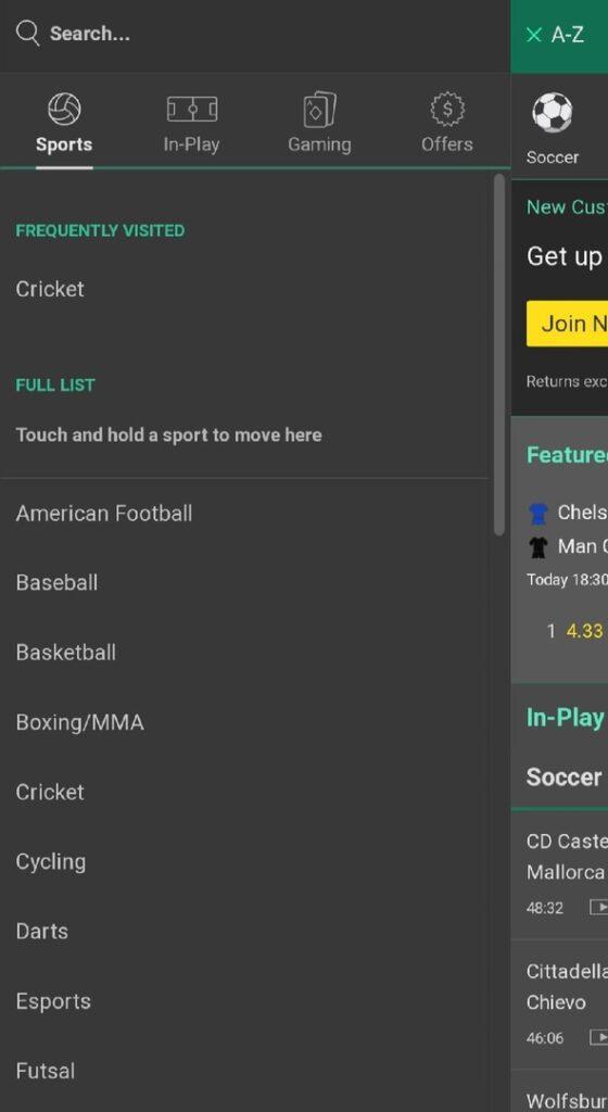 bet365 sports line