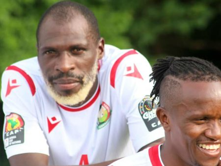 Kenyan National Team player dyed his beard white
