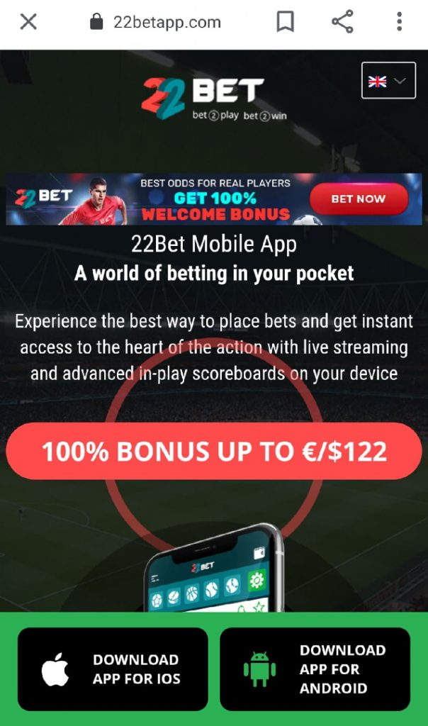 download 22bet app