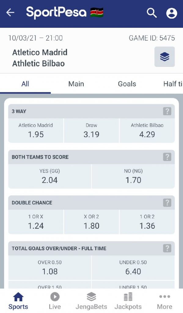 Sportpesa - how to place bets