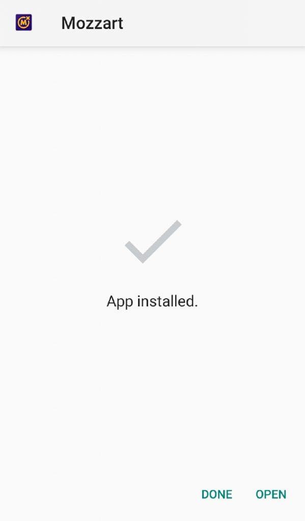 Mozzartbet app installed
