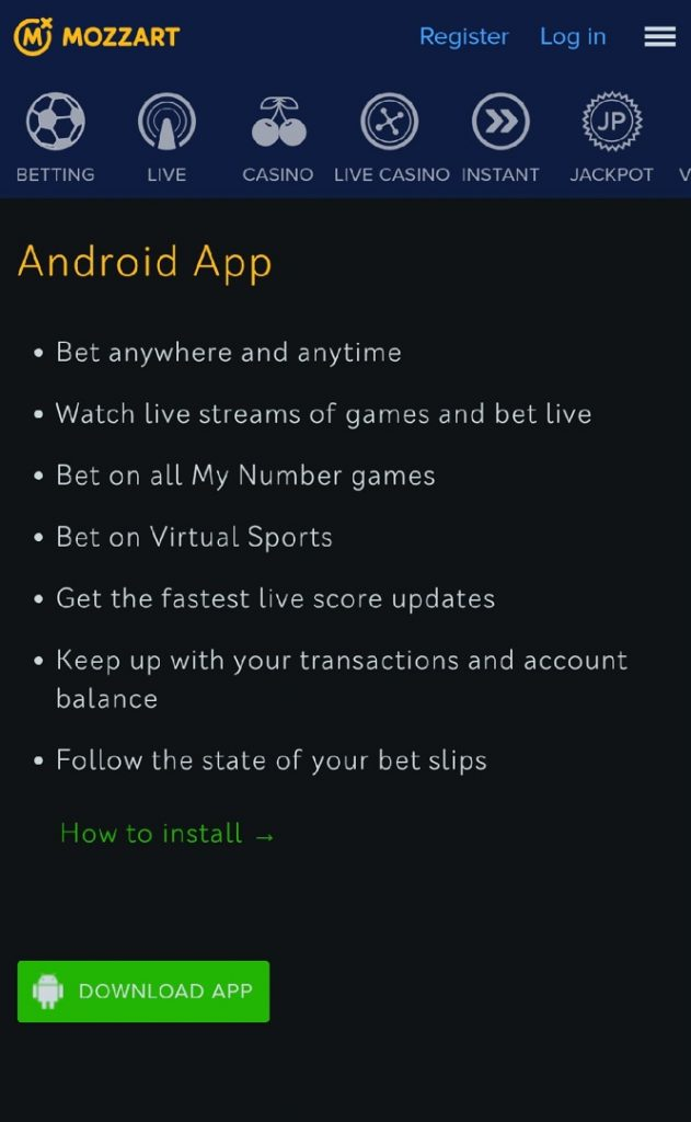 Mozzartbet android app download