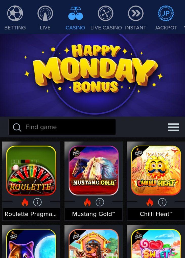 Mozzartbet Mobile Casino