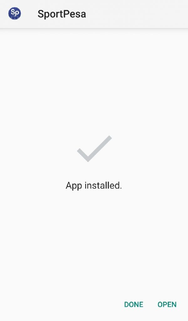 Sportpesa app installed
