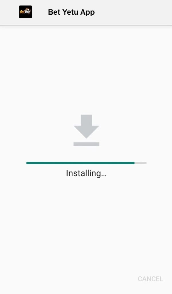 Betyetu App installed on Android