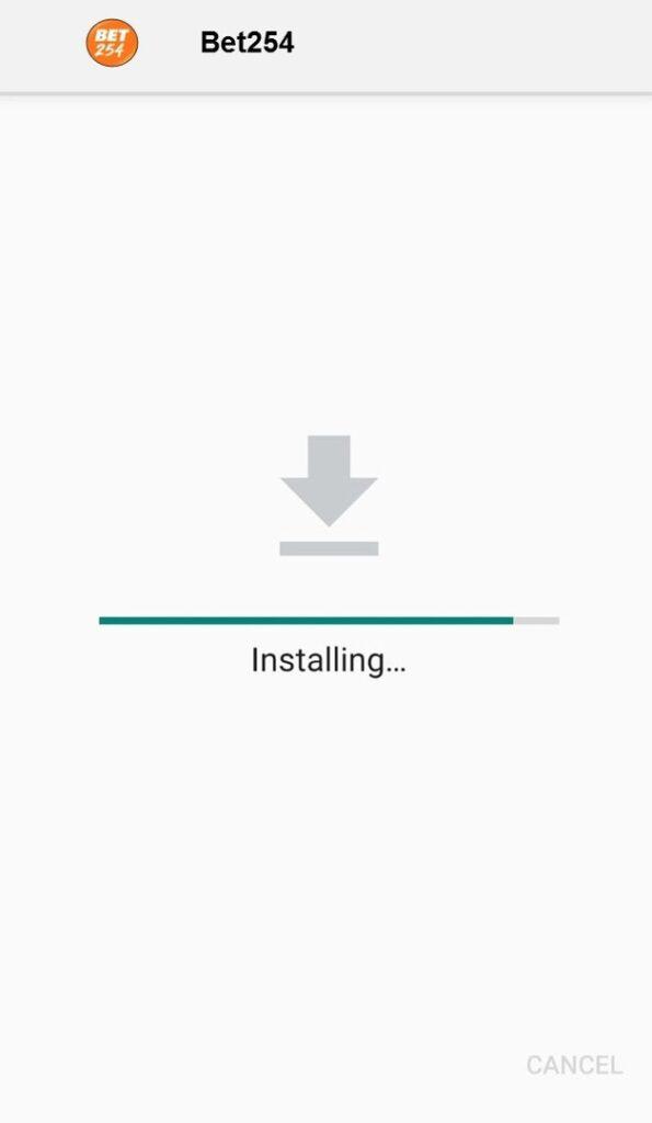 Bet254 Mobile App installing