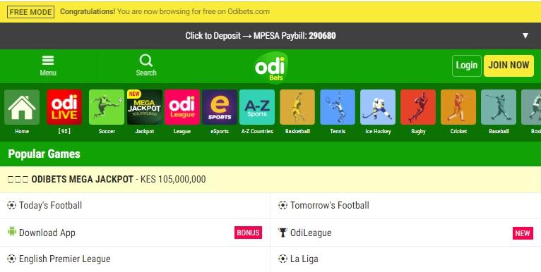 OdiBet Kenya App