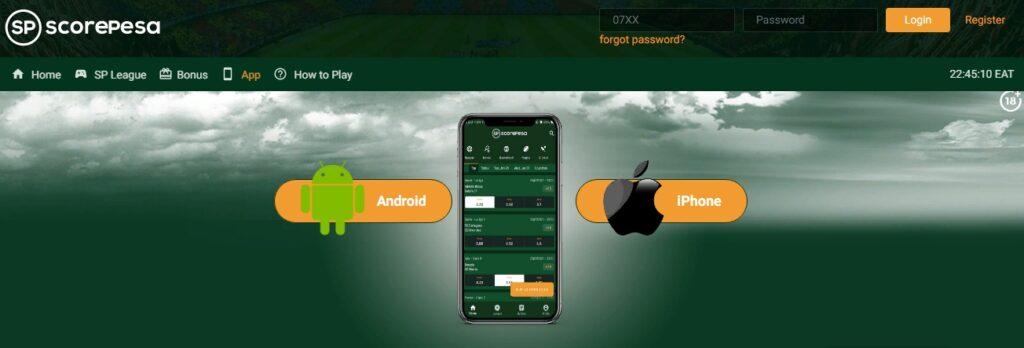 Scorepesa App Android & iOS