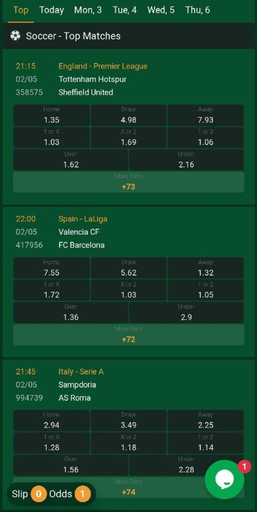 Scorepesa Football Bets