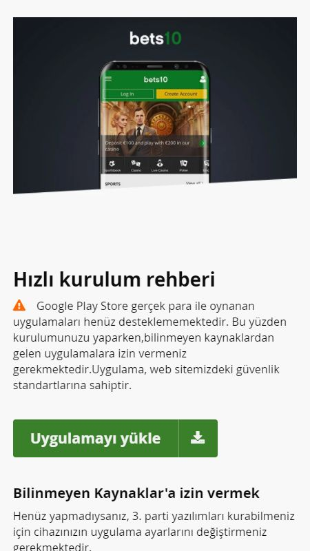 bets10 android
