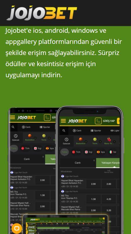 Jojobet Mobil uygulaması