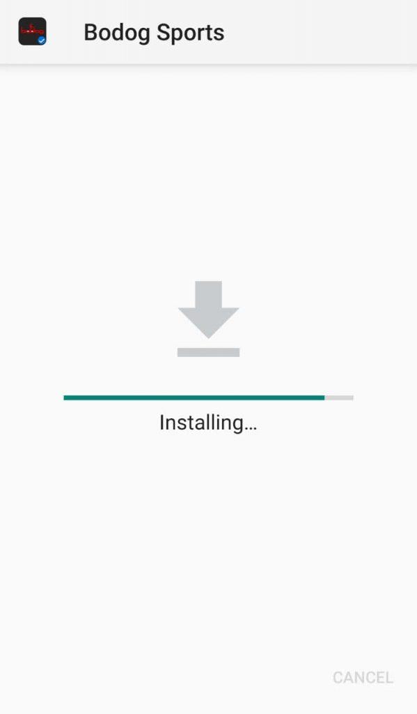Bodog install mobile app step one